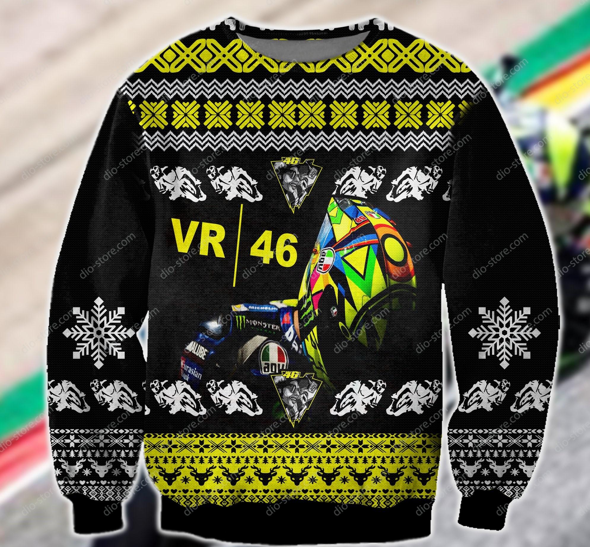 sky racing vr46 all over printed ugly christmas sweater 2