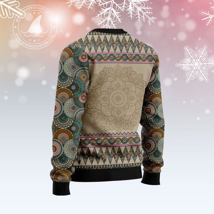wisconsin mandala all over printed ugly christmas sweater 3