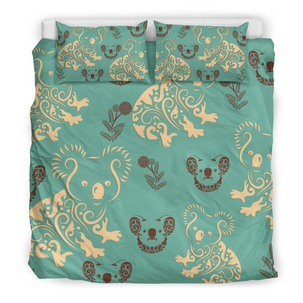 australia koala all over printed bedding set 3