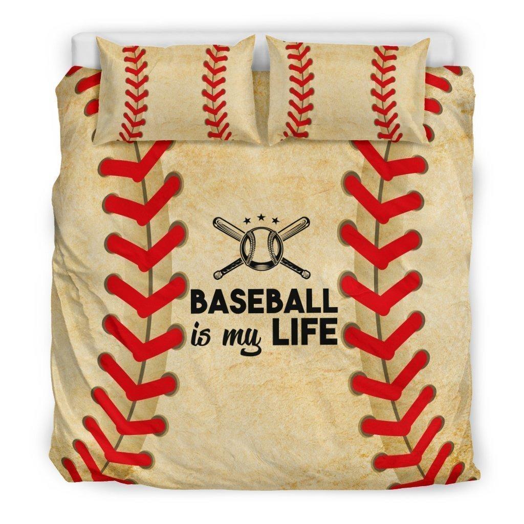 baseball is my life all over printed bedding set 2