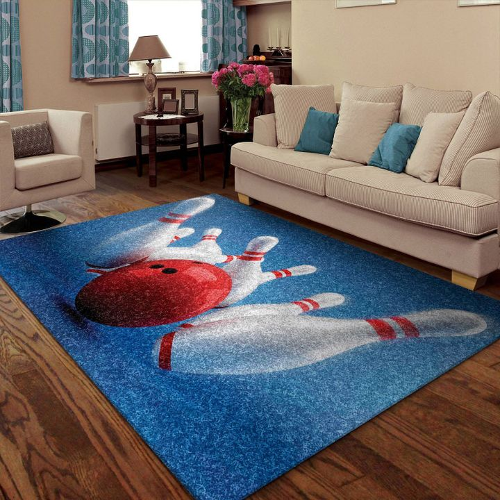 bowling pins all over printed rug 2
