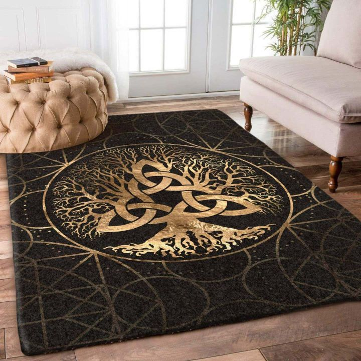 celtic tree of life all over printed rug 3