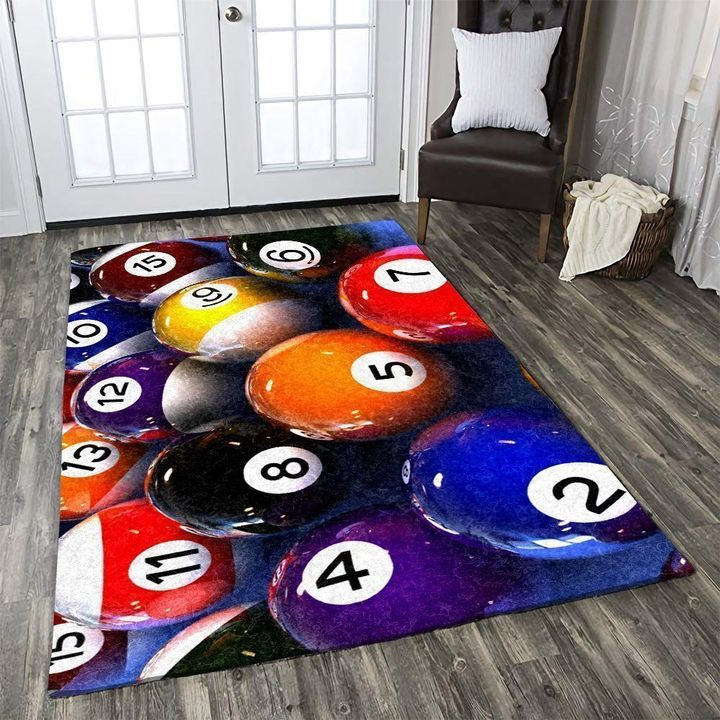 colorful billiard all over printed rug 4
