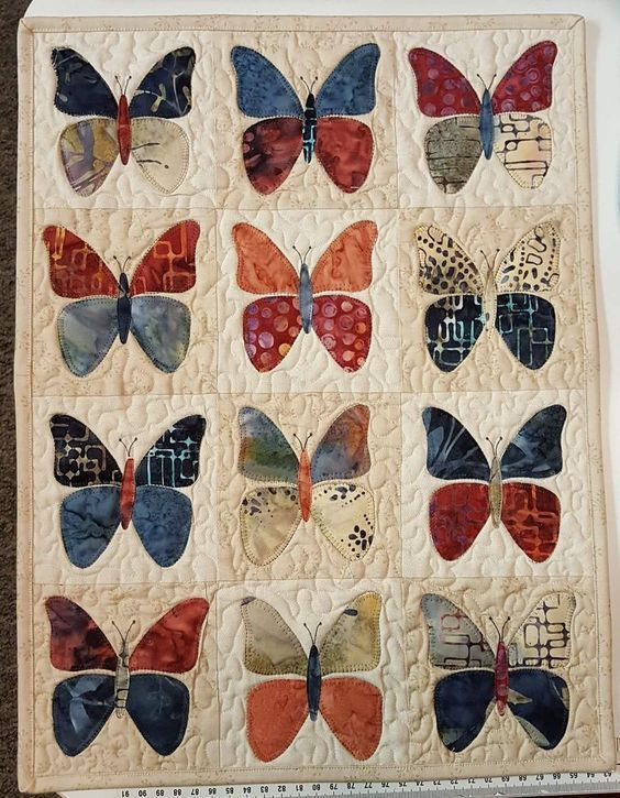 colorful butterfly vintage full printing quilt 2