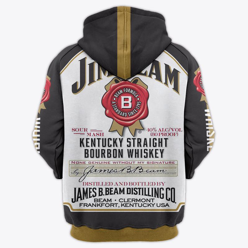 jim beam formula a standard since 1795 full over printed hoodie 2