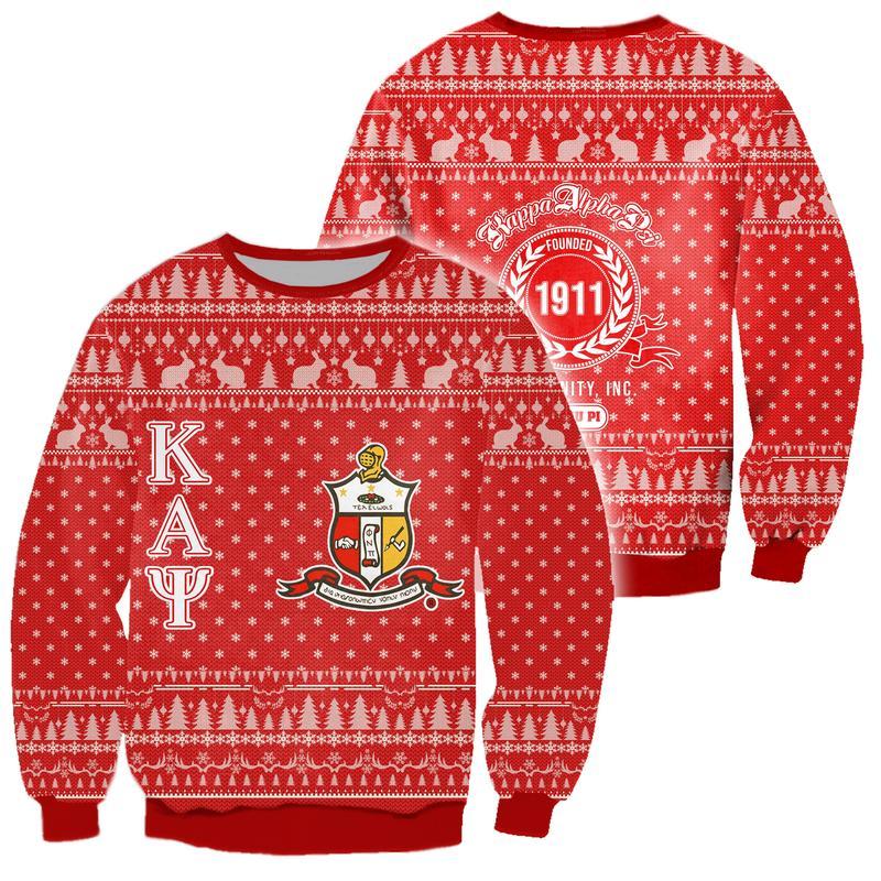 kappa alpha psi all over print ugly christmas sweater 2