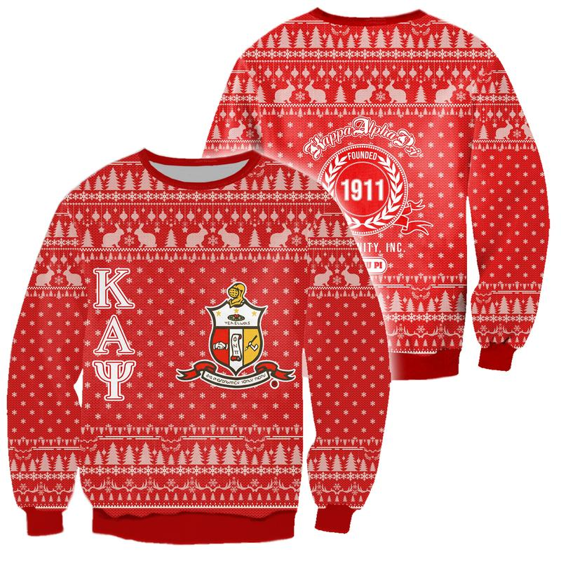 kappa alpha psi all over print ugly christmas sweater 3