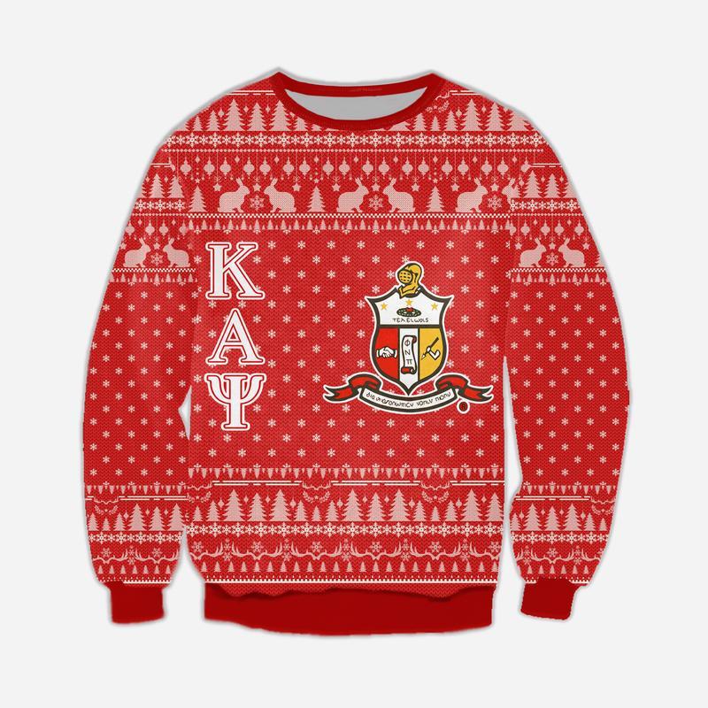 kappa alpha psi all over print ugly christmas sweater 4