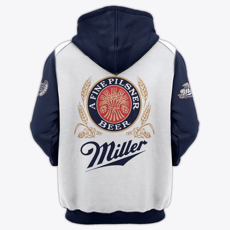 miller lite a fine pilsner beer full over printed hoodie 2