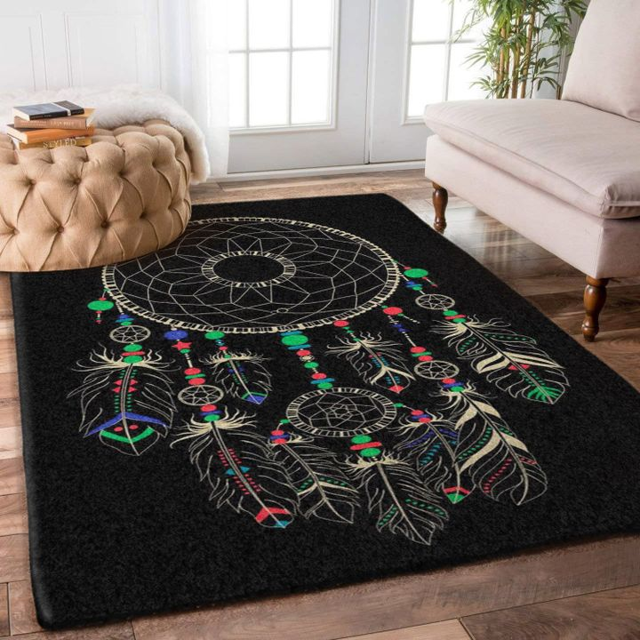 native american dreamcatcher all over printed rug 3
