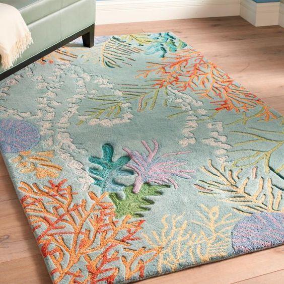 ocean coral reef all over printed rug 2
