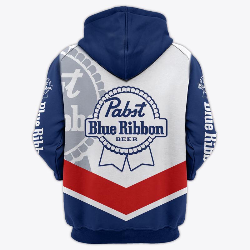 pabst blue ribbon beer full over printed hoodie 1