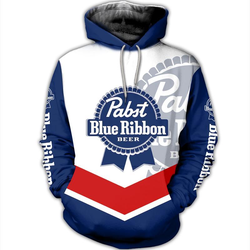 pabst blue ribbon beer full over printed hoodie 2