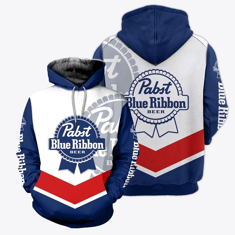 pabst blue ribbon beer full over printed shirt 2