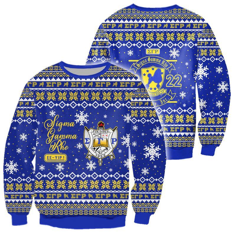 sigma gamma rho all over print ugly christmas sweater 2
