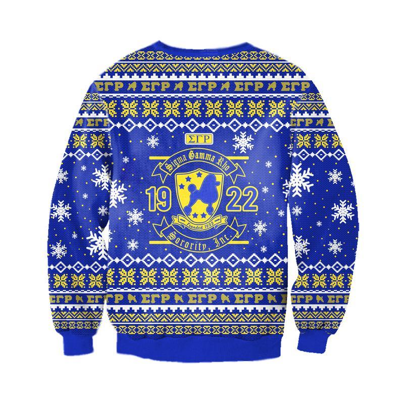 sigma gamma rho all over print ugly christmas sweater 4