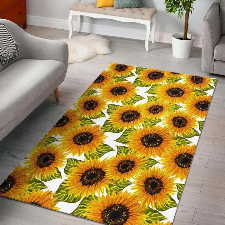 the sunflower all over printed rug 2