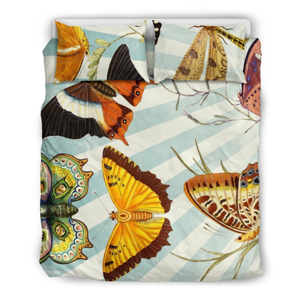 vintage butterfly all over printed bedding set 4