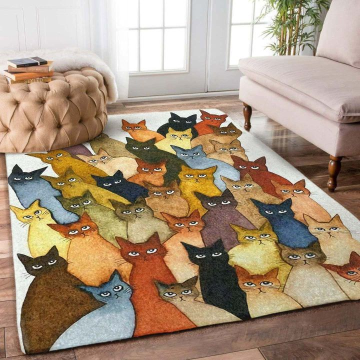 vintage cats all over printed rug 2