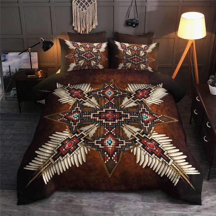 vintage native american full printing bedding set 3