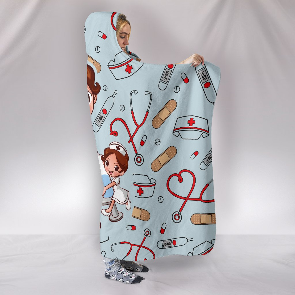 a nurse is a hero all over print hooded blanket 2