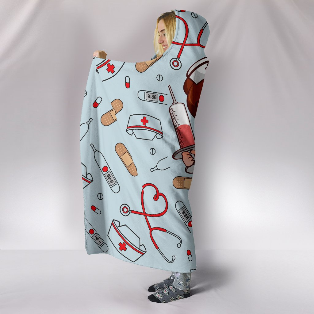 a nurse is a hero all over print hooded blanket 4