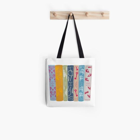 austen collection colorful all over printed tote bag 3