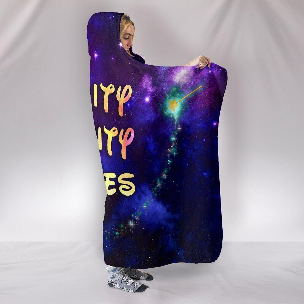 bippity boppity besties full printing hooded blanket 2