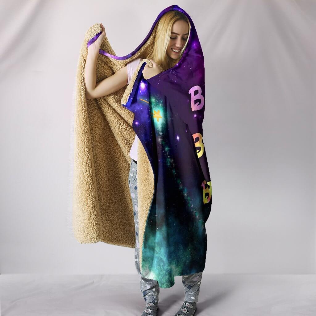 bippity boppity besties full printing hooded blanket 3
