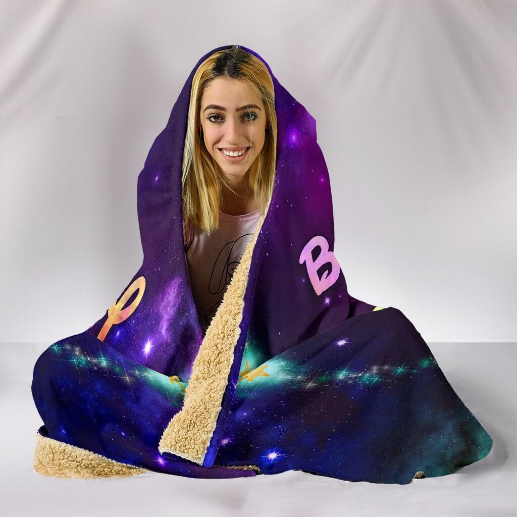 bippity boppity besties full printing hooded blanket 5
