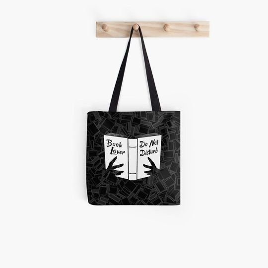 book lover do not disturb all over printed tote bag 4