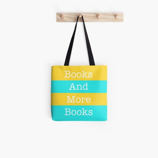 book lovers reading books and more books all over printed tote bag 2