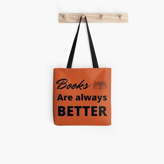 book lovers reading books are always better all over printed tote bag 4