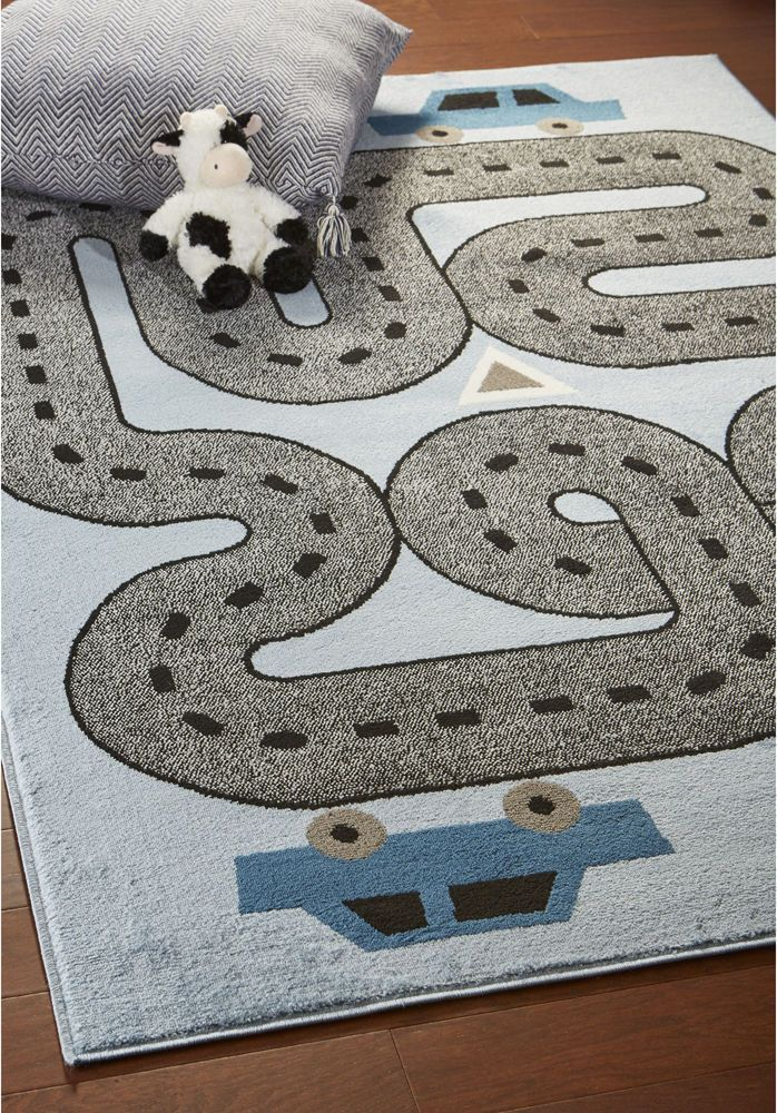 car road kids all over printed area rug 4