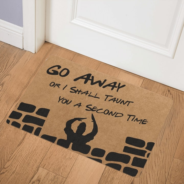 go away i shall taunt you a second time full printing doormat 3