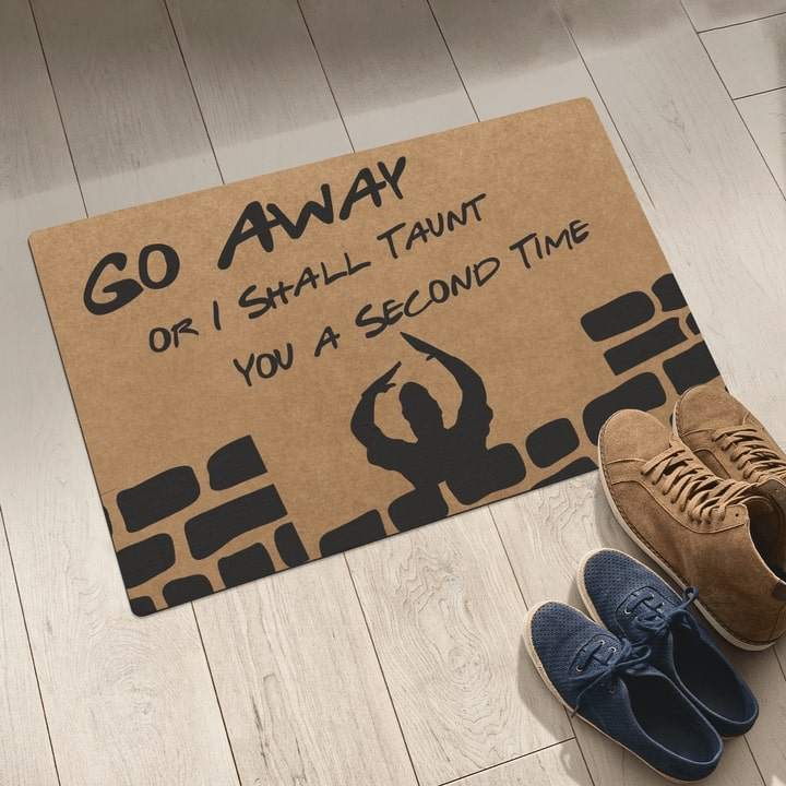 go away i shall taunt you a second time full printing doormat 5