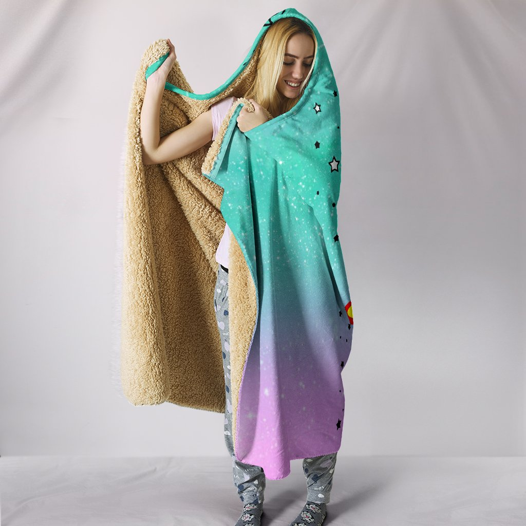 i am hulacorn unicorn galaxy full printing hooded blanket 3