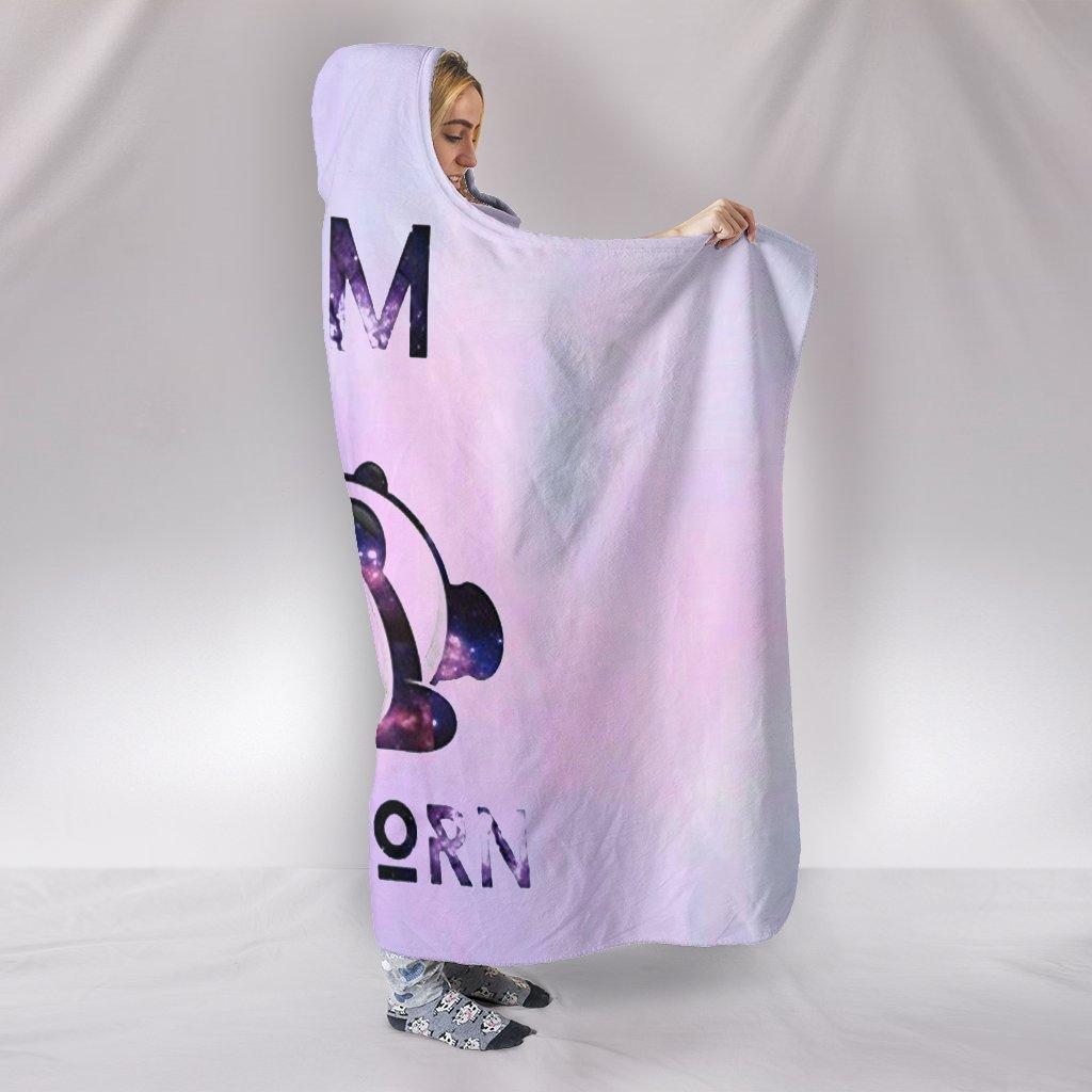 i am pandicorn full over print hooded blanket 2