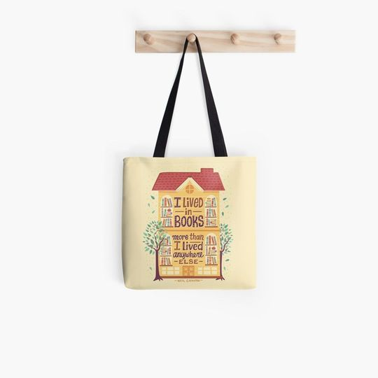 i lived in books more than i lived anywhere else tote bag 5