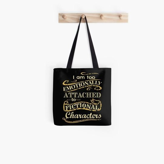 im too emotionally attached to fictional characters all over printed tote bag 4