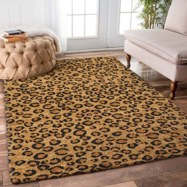 leopard pattern all over printed rug 5