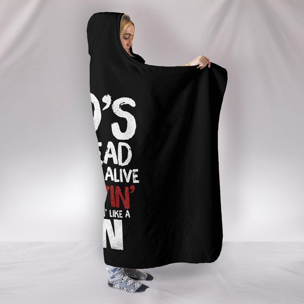 my God's not dead full printing hooded blanket 2