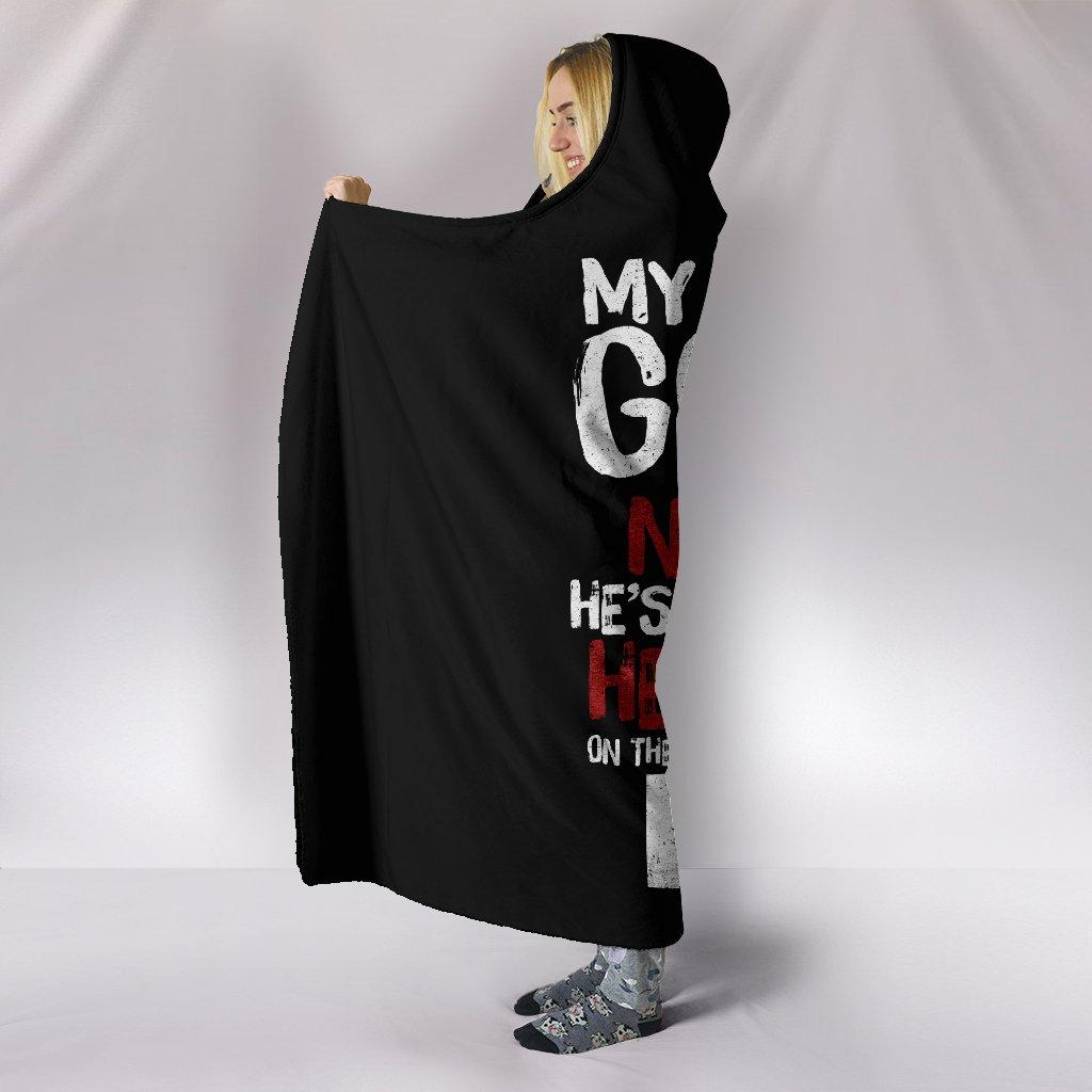 my God's not dead full printing hooded blanket 4