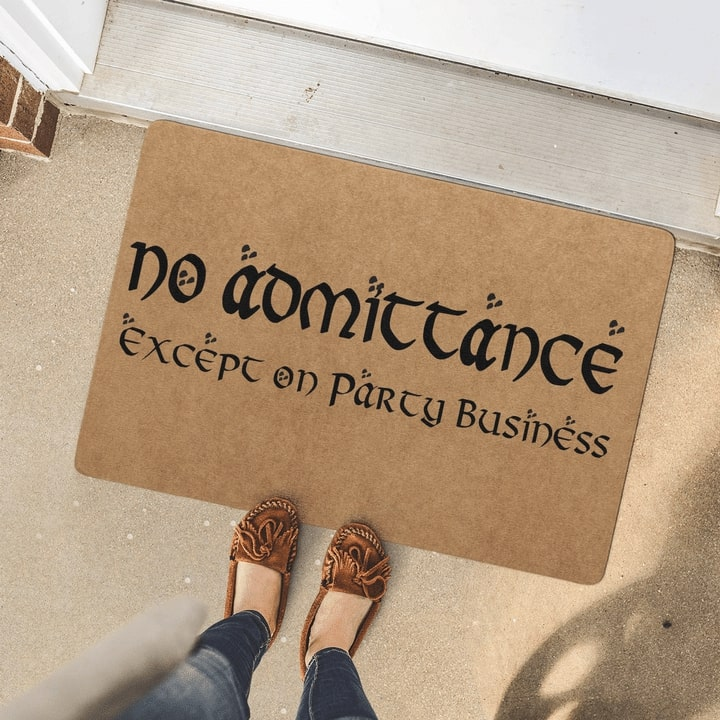 no admittance except on party business full printing doormat 4