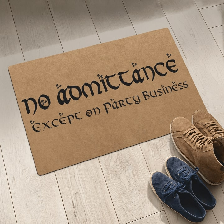 no admittance except on party business full printing doormat 5