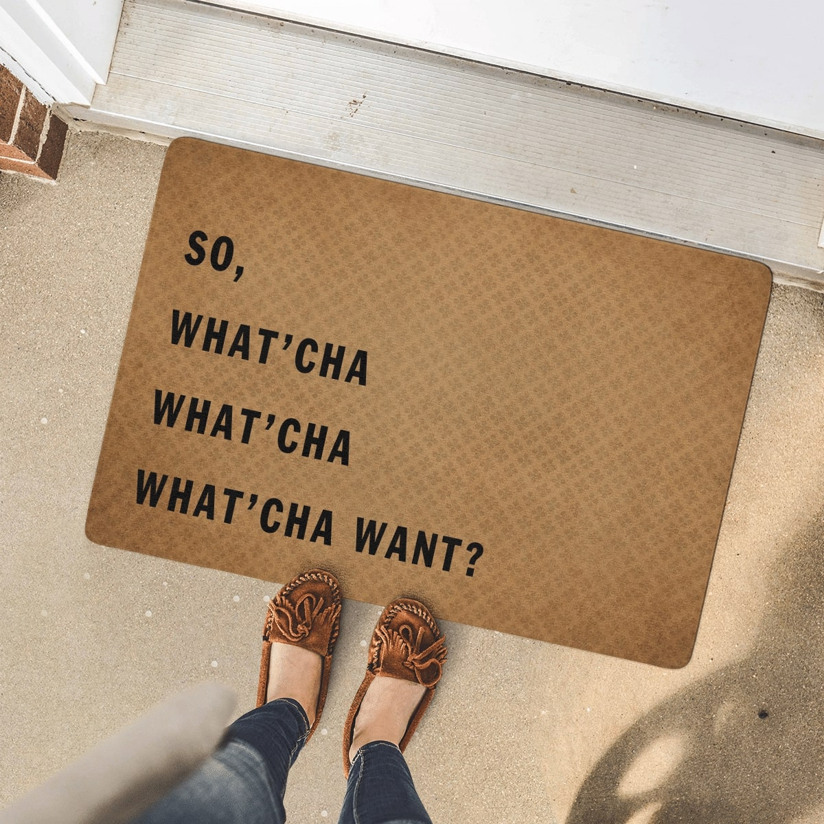 so what'cha what'cha what'cha want full printing doormat 4