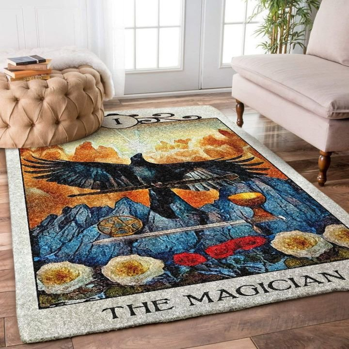 the crow the magician all over printed rug 3