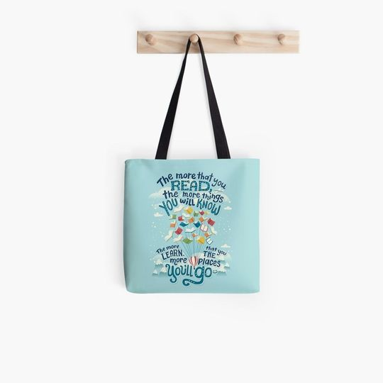 the more that you read the more things you will know tote bag 3