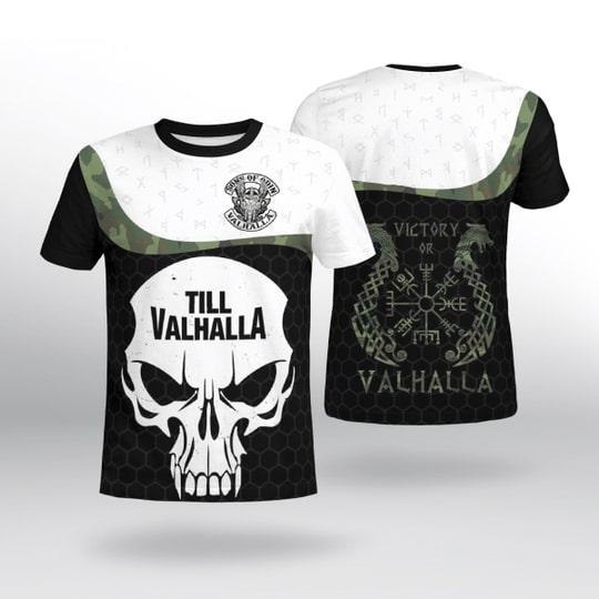 viking sons of odin till valhalla all over printed tshirt