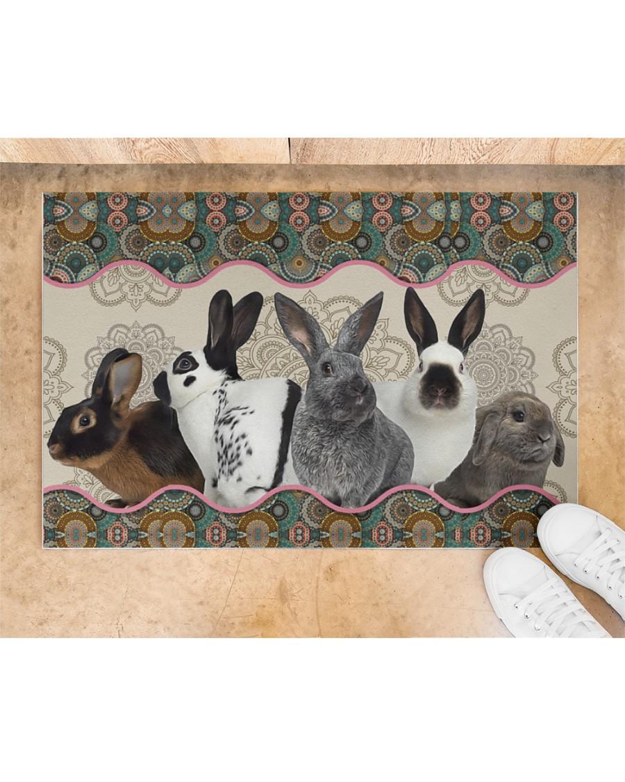 vintage mandala rabbit full printing doormat 3